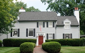 bigstock-Modern-House-with-Red-Door-20186495