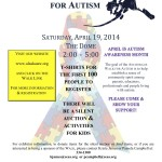Walk for Autism Anch Flyer 2014