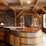 eclectic-kitchen-design-wooden-kitchen-island-modern-timber-framed-home