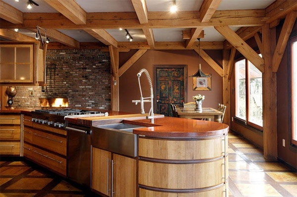 eclectic-kitchen-design-wooden-kitchen-island-modern-timber-